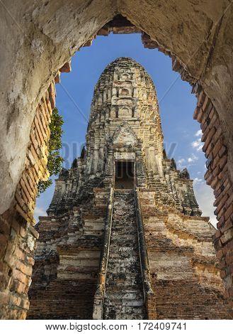 Wat Chai Watthanaram ancient temple Ayuthaya, Thailand