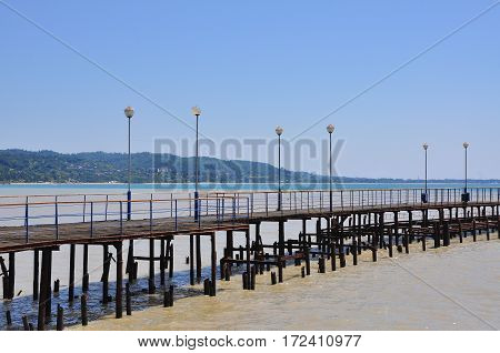 pier in the capital of Abkhazia Sukhumi July