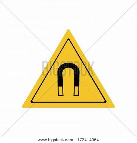 Magnetic field sign vector design isolated on white background