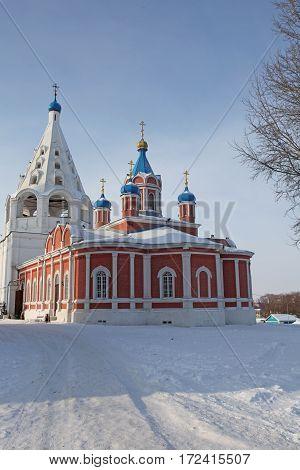 Russia. Kolomna kremlin and historical center. Monastery