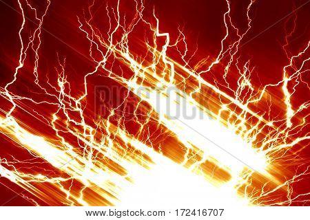 Lightning electricity spark