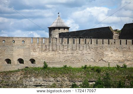 Ivangorod Fortress on the border of Estonia and Russia