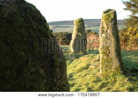 Standing Stones at Aikey Brae, in Aberdeenshire
