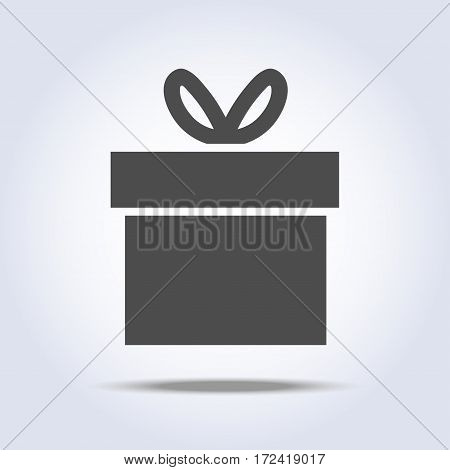 Vector icon of present box with shadow