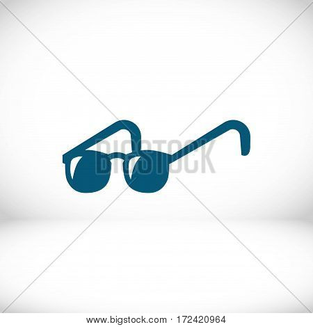 glasses icon stock vector illustration flat design