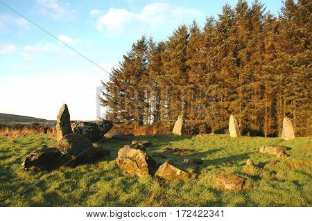 Recumbent Stone Circle, at Aikey Brae, Aberdeenshire