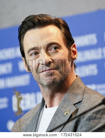 BERLIN, GERMANY - FEBRUARY 17: Hugh Jackman attends the 'Logan' (Masaryk) press conference during the 67th Berlinale  Festival Berlin at Grand Hyatt Hotel on February 17, 2017 in Berlin, Germany.