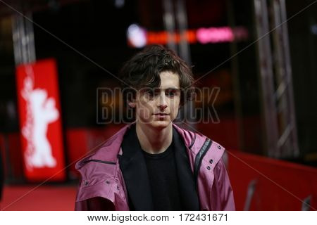 BERLIN, GERMANY - FEBRUARY 13:  Timothee Chalamet attends the 'Call Me by Your Name' premiere  during the 67th Berlinale  Film Festival Berlin at Zoo Palast on February 13, 2017 in Berlin, Germany.