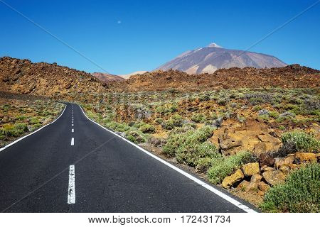 Highland Highway In Tenerife, Canary Island, Spain