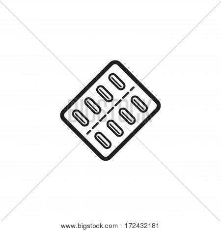 Medication and Medical Services Icon. Flat Design. Isolated.