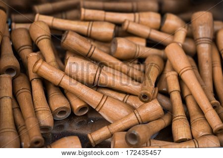 Plenty Of Brown Wooden Cigarette Holder