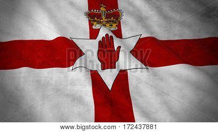 Grunge Flag Of Northern Ireland - Dirty Northern Irish Ulster Flag 3D Illustration