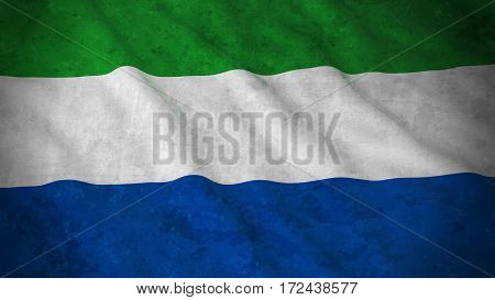 Grunge Flag Of Sierra Leone - Dirty Sierra Leonean Flag 3D Illustration