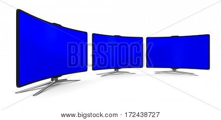 TV on white background. Isolated 3D image