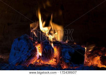Hot fireplace - Embers in a pizza oven.