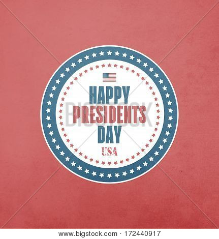 Presidents Day Card With Grunge Radiant Background