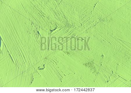 Painting close up of light green color, paint brush strokes  texture for interesting, creative, imaginative backgrounds. For web and design.