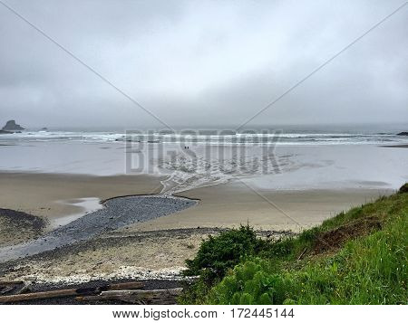 Canyon Creek Delta to the Pacific Ocean Northwest Oregon.