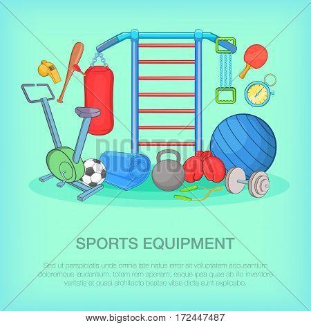 Gym equipment concept set. Cartoon illustration of Gym equipment vector concept for web