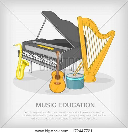 Musical ensemble concept set. Cartoon illustration of musical ensemble vector concept for web
