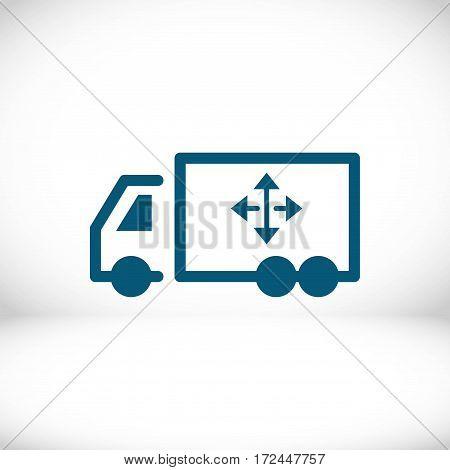 truck icon stock vector illustration flat design