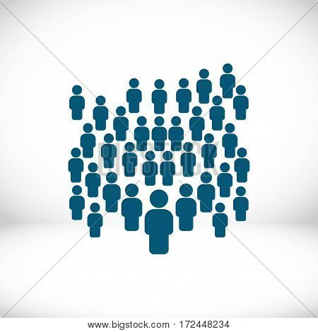 people with the leader icon stock vector illustration flat design