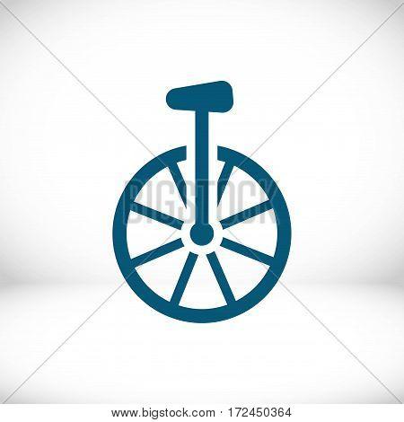 unicycle icon stock vector illustration flat design