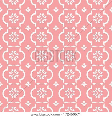 Pastel retro vector pattern tiling. Endless texture can be used for printing onto fabric and paper or scrap booking surface textile web page background. Flower abstract shapes