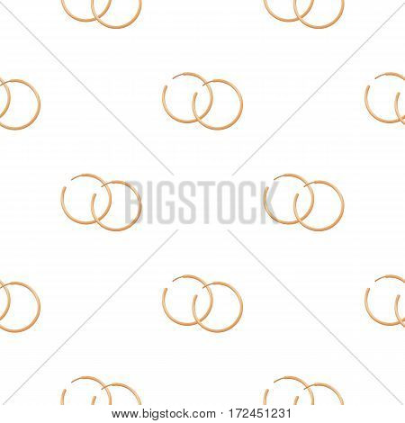 Hoop earrings icon in cartoon style isolated on white background. Jewelry and accessories pattern vector illustration.