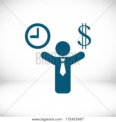 money time icon stock vector illustration flat design