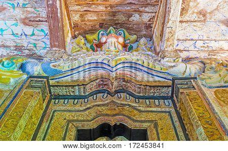 The Lion In Padeniya Temple