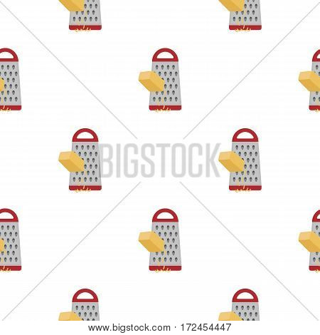 Grating cheese icon in cartoon style isolated on white background. Pizza and pizzeria pattern vector illustration.