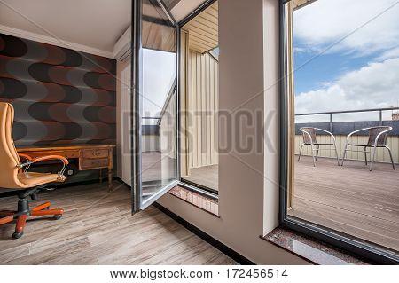 Modern Balcony In Privet Office