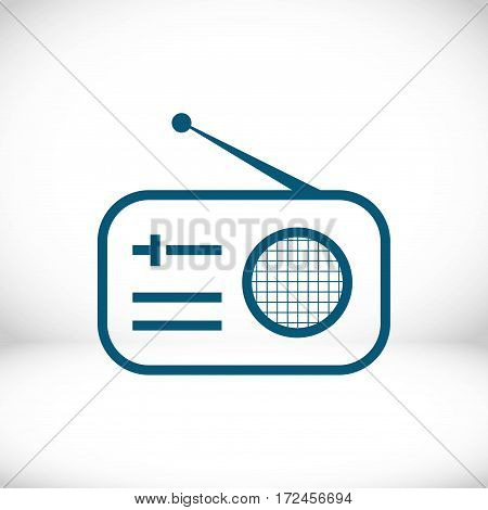 radio icon stock vector illustration flat design