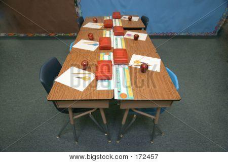 Row Of Student Desks