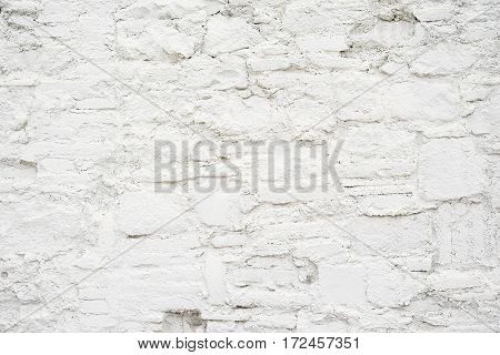 Abstract empty background.Photo of white blank stone wall texture. Blank cement surface.Horizontal