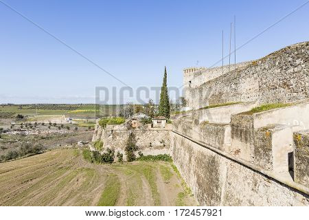 the city wall and the Castle in Campo Maior, Portalegre district, Portugal