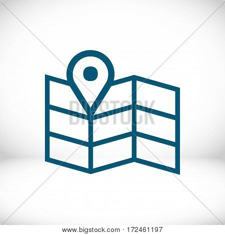 navigation map icon stock vector illustration flat design