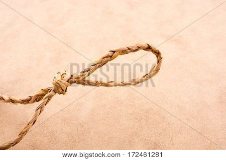 Straw Knot On A Light Color Background