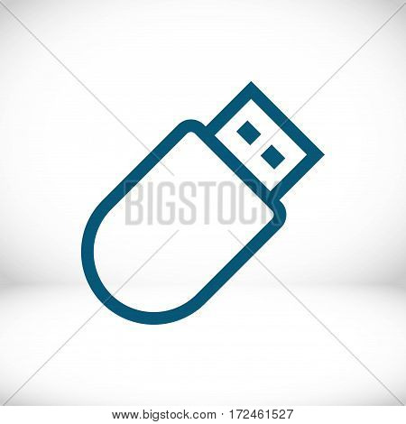usb icon stock vector illustration flat design