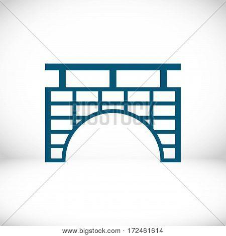 bridge icon stock vector illustration flat design