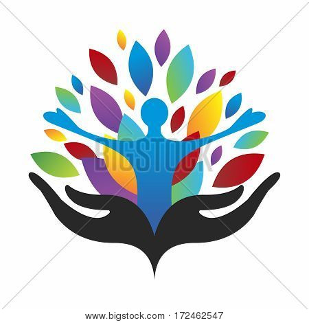 Vector Colorful Conceptual Illustration of Diversity Community