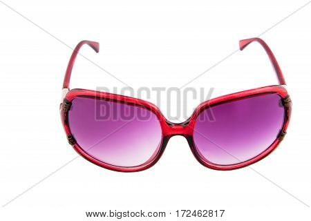 sunglasses with brown glasses isolated background. horizontal shot