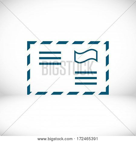 letter envelope icon stock vector illustration flat design