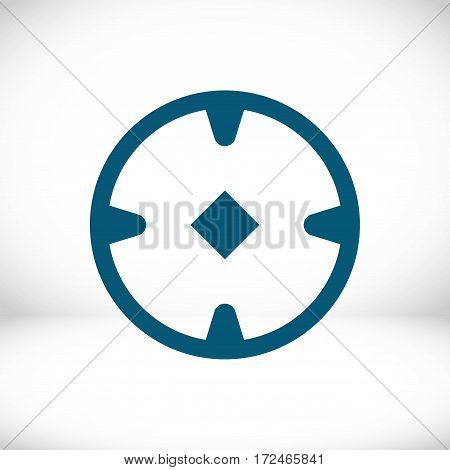 location icon stock vector illustration flat design