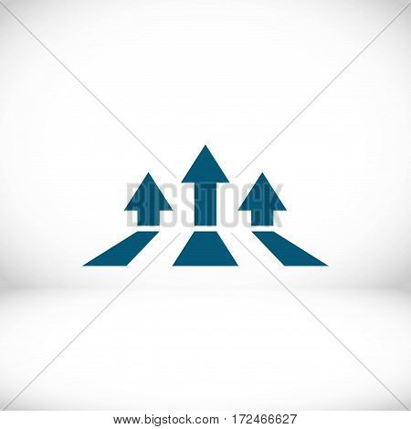 colorful bookmarks and arrows icon stock vector illustration flat design