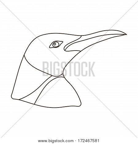 Penguin icon in outline design isolated on white background. Realistic animals symbol stock vector illustration.