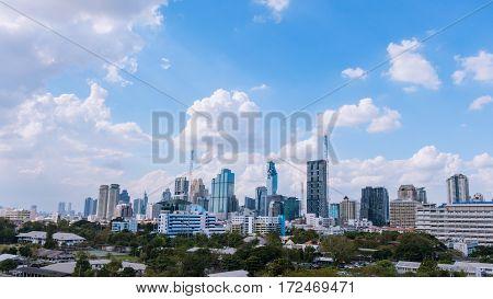 Business Building Bangkok City Area, Panorama View