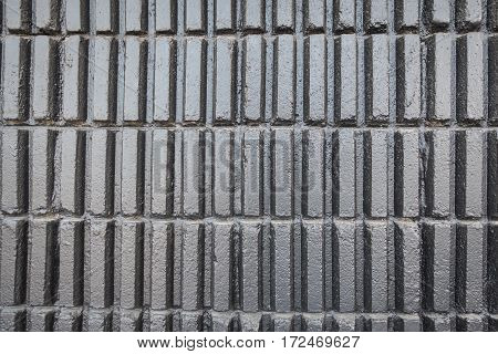 Brick Wall Black Texture, Detailed Structure Of Brick In Natural Pattern For Background