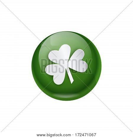 Shamrock Coin Saint Patrick Day Beer Festival Banner Greeting Card Flat Vector Illustration